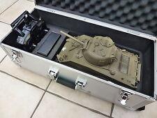 Mato 1/16 2.4GHz 100% Metal RC M4 Sherman IR Tank Green + Trolley Case + Smoke