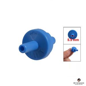Kunststoff Aquarium Rückschlag Luftpumpe Rückschlag Ventil blau
