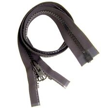 "Zipper, 48"" Inches Black, #10 Separating Zipper, YKK Vislon, Double Slider"