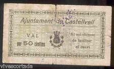 Ayuntamiento de CASTELLVELL del CAMP  50 Centimos  @ Baix Camp - Reus @
