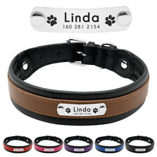 Small Medium Large Dogs Personalised Dog Collar Nameplate Free Engraved ID Tag