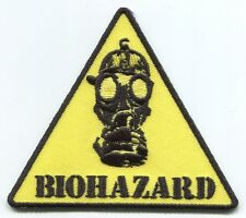 BIOHAZARD yellow triangle gas mask EMBROIDERED IRON-ON PATCH **FREE SHIP** p4164