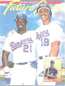 Beckett Future Stars Magazine July 1991 #3 Juan Gonzalez Ruben Sierra Rangers