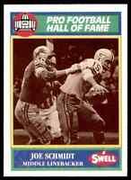 1989 Hall of Fame Green #89 Joe Schmidt HOF RARE  Detroit Lions / Pitt Panthers