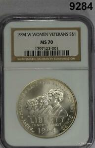 1994 W WOMENS VETERANS SILVER DOLLAR NGC CERTIFIED MS70 PERFECTION! #9284