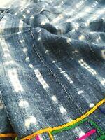Antique handmade Indigo strip- textile - woven mud cloth from Mali, West Africa