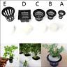 10-20Set Mesh Pot Net Basket+Clone Collar Foam Insert Hydroponic Aeroponic Plant