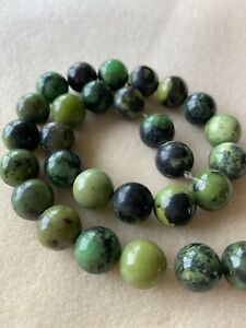 18mm Chrysoprase semi precious/gemstone beads jewellery making UK seller