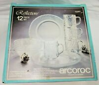 Arcoroc Reflections 12PC Glass Dinner Set RESTAURANT QUALITY France FAST FREE
