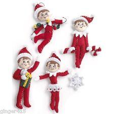 "Bucilla  ""THE ELF ON A SHELF"" Felt Christmas Ornaments Kit 86506"