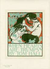 WHEN HEARTS ARE TRUMPS BY TOM HALL Litho Maîtres de l'Affiche William H. BRADLEY