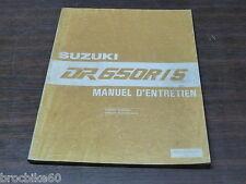 MANUEL REVUE TECHNIQUE D ATELIER SUZUKI DR 650 R / S 1992 - 1993 DR650R DR650S
