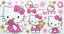 4 X Hello Kitty Self Adhésif Autocollants Muraux feuille - 59 cm x 31 cm Par Feuille