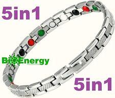 TITANIO Pulsera de alimentación de energía magnética germanio brazalete salud jade 5in1 Bio