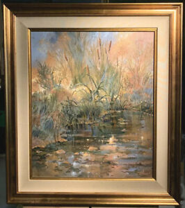"""Doug Oliver Original Painting """"Harvest"""" -28x32"""" Framed 1986"""