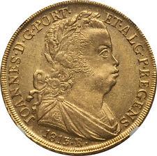 Brazil 1813-R Joao Prince Regent gold 6400 Reis NGC MS-63