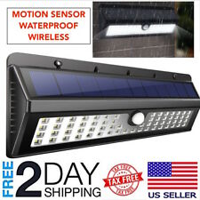 62LED Solar Powered Dusk-To-Dawn Waterproof Motion Sensor Security Light Outdoor