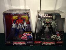 Optiumus Prime + Megatron Transformers Titanium Die Cast Metal Hasbro 2006 MISP