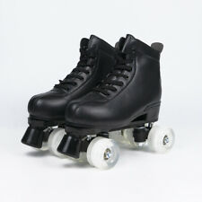 Unisex Adult Classic Boot style Quad Roller Skates for Indoor and Outdoor Black