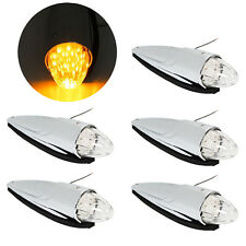 5) 17LED Amber Semi Truck Roof Cab Marker Clearance Lights For Peterbilt Mack
