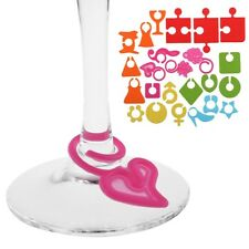 24 pcs Markers Silicone Party People Bottle Drink Cup Wine Glass Charms