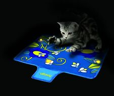 Interactive Nighttime Quiet Cat Toy Glow Flashing Lights Firefly Mat Funny Toys