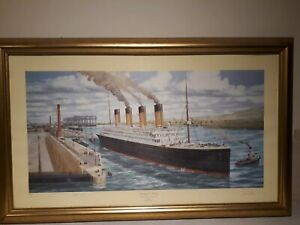 Titanic Print . Ready for Trials by Simon Fisher .783/850