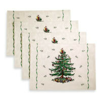 Spode CHRISTMAS TREE  Fabric Placemats  Set of 4 NEW in Package