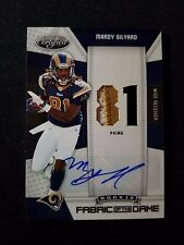 2010 Leaf Certified FOTG Mardy Gilyard Rc Auto Game Used Jersey Patch Rams #2/10