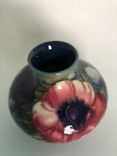 Genuine Moorecraft Iris vase 3.75 inches tall MINT condition