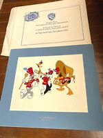 1994 WARNER BROS limited edition SERICEL ANIMATION CEL Bugs Bunny and Daffy Duck