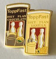 Toppfast Diet Plan Drinks Brand Advertising Pin Badge Rare Vintage (C20)
