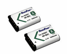 TWO BATTERIES for SONY NP-BX1 Cyber-shot DSC-RX100 DSC-RX1 Action Cam BATTERY X2