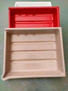 "3 Set Plastic Darkroom Photographic Trays By Paterson 10"" x 8"" - 20 x 25cm"