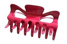 A Pretty Pink Hair Claw Clamp Clip Unique Bull Dog Design Uniqe Curved Style