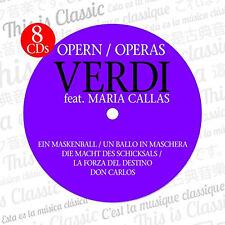 CD Verdi Opéra II Box avec Maria Callas 8 CDs incl. Un Maskenball, Don Carlos