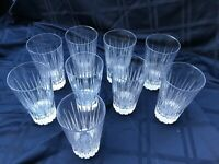 9 Cristal d'Arques/Durand Derby Danbury Highball Tumbler Iced Tea Vertical