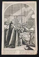 Francois Chauveau Engraving After Le Vie De St. Bruno Sueur Plate 3 Church1660