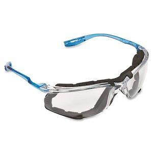 3M Virtua CCS Safety Glasses Blue Foam-Padded Frame Clear Anti-Fog Lenses