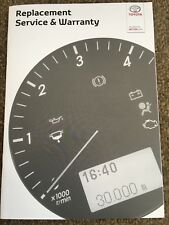 GENUINE TOYOTA VERSO Service History Record Book NEW BLANK