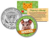 SPHYNX Cat JFK Kennedy Half Dollar US Colorized Coin