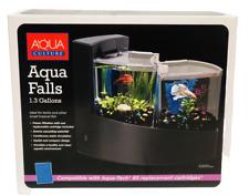 New listing AquaCulture Aqua Falls Betta Kit 1.3 Gallon Double Betta Tank With Filter