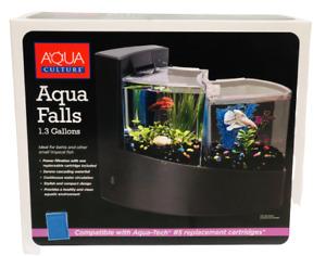 AquaCulture Aqua Falls Betta Kit 1.3 Gallon Double Betta Tank With Filter