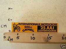 STICKER,DECAL LICHTENVOORDE INT. MOTOCROSS 500 CC CAMEL 25 JULI MC CROSS A