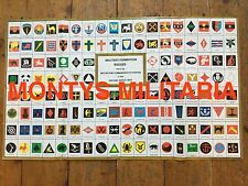 Excellent WW2 British Army Formation Badges Div Signs Identification Poster