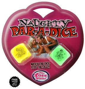Jumbo Dice Adult Naughty Dice Couple Saucy Game Romantic Novelty Naughty Pair