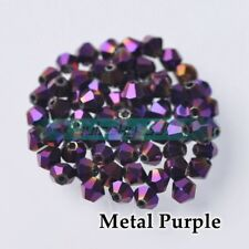 Wholesale 3mm 4mm 6mm 8mm Bicone Crystal Glass Faceted Loose Spacer Beads DIY