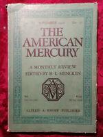 American Mercury September 1928 H L MENCKEN JOSEPH MCGOLDRICK