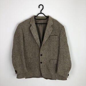 HARRIS TWEED Jacket Blazer - Size 44R - Sand/Brown - 100% Wool
