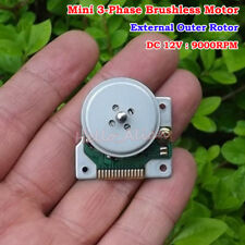 DC 12V 9000RPM 3-Phase Brushless Motor CD-ROM DVD Spindle External Outer Rotor